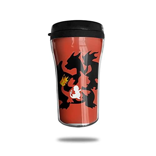 Charmander Charizard Taza de café con aislamiento al vacío, taza termo de doble pared, taza de viaje para bebidas de vidrio de viaje