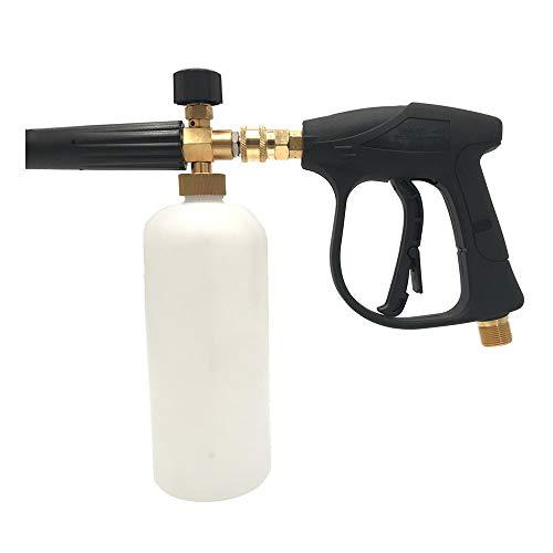 ZBBYMX Schneeschaum Lanze Einstellbarer Düsenseifenspender Einstellbarer Hochdruckreiniger Schaum Waschen 1L Flasche Autowaschen Schneeschaum 1/4