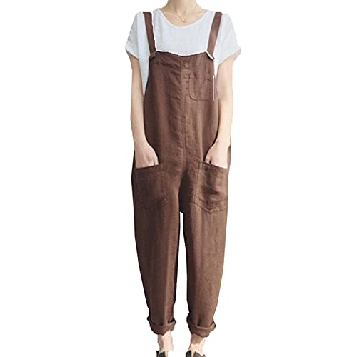 Primavera Y Verano Mujer Pantalones Casual AlgodóN Lino Pantalones Transpirables Tallas Grandes CháNdales
