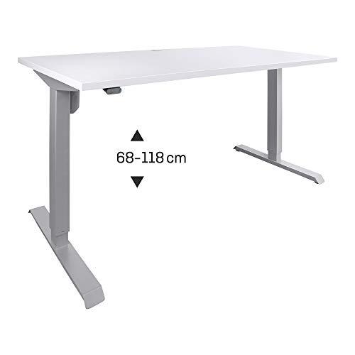 STIER Elektrisch Höhenverstellbarer Schreibtisch 100x80cm Grau