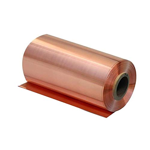 SOFIALXC Reines Kupfer Blatt Kupferfolie Doppelseitiges Conductive Rollenbreite 100 Mm Lang 5000mm-thickness: 0.05 mm