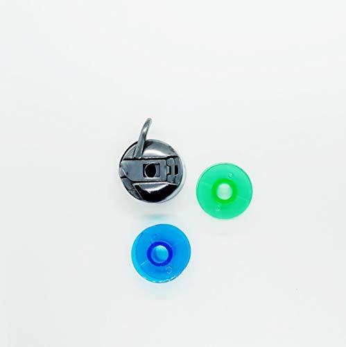 Canillero especial para maquinas de coser antiguas y 2 canillas de plástico
