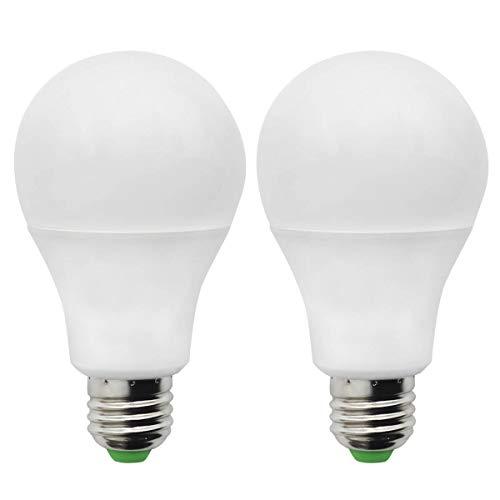 Lámpara LED con casquillo de rosca E27 de 7W, AC12V/DC12-24V, sustituye a la bombilla halógena A70 de 60W, ángulo de haz de 270°, 700 Lumen, blanco cálido 2700K Paquete de 2