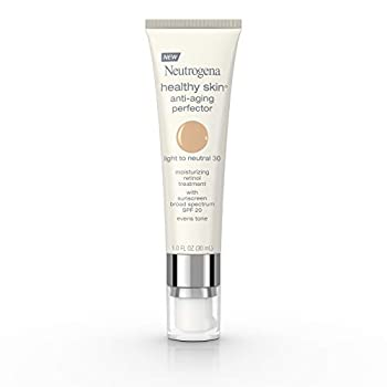 Neutrogena Healthy Skin Anti-Aging Perfector Tinted Facial Moisturizer and Retinol Treatment with Broad Spectrum SPF 20 Sunscreen with Titanium Dioxide 30 Light to Neutral 1 fl oz