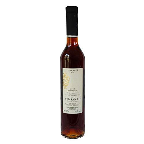 Griechischer Fein Wein, Gavalas Vinsanto, Seltener Vulkanischer Süßer Weißwein, 100% Assyrtiko P.D.O Santorini, Griechenland 2010 (Einzelne 0,5l Flasche)