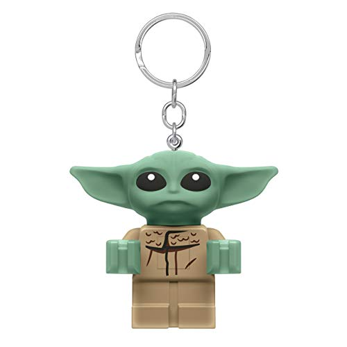 IQ-Spiele Star Wars The Mandalorian Llavero Grogu The Child Figura Lego con luz 6cm Verde