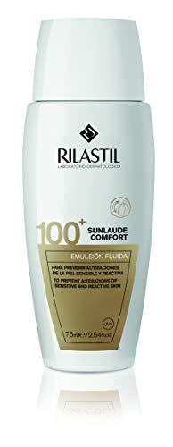 Rilastil Sunlaude Comfort 100 MD - Emulsión Fluida de Protección Solar para Pieles Sensibles - 75 ml