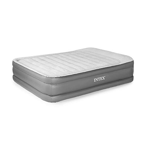 Intex Queen Deluxe Pillow Rest Fiber-Tech Airbed