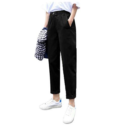Zarupeng Dameslegging casual losse rechte broek crop pants effen hoge taille pluderbroek lange leggings sportbroek strandbroek