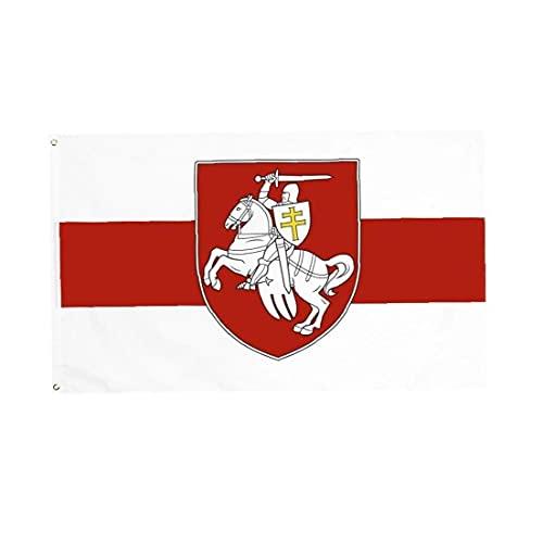 Froiny Banner Bandera del Caballo Caballero - Bandera Blanca Roja Blanca - Bielorrusia Pagonia Escudo Armas - Bellarus Banner Bandera Aire Libre