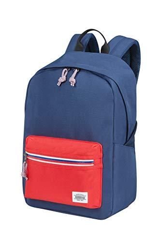 American Tourister Upbeat - Mochila, 42.5 cm, 19.5 L, Azul (Navy/Red)