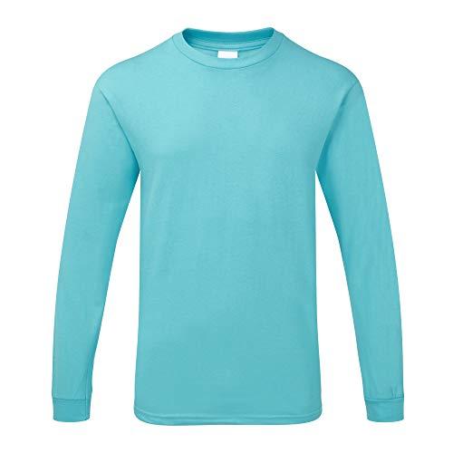 Gildan - Maglietta da uomo a maniche lunghe con martello di qualità pesante blue laguna M