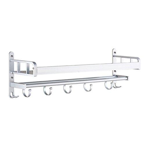 riaqic HTDZDX Estante del baño Perforación Libre Succión Colgar en la Pared Toallero Estantes de Almacenamiento (Size : 50 * 14 * 17.6CM)