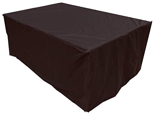 NMYYV Mesa y Silla de 260x130x90 cm Cobertura en Polvo Pirata Prima de Compra Cubrir los Muebles al Aire Libre Cubierto Patio con jardín 600D Oxford Tela Impermeable Negro