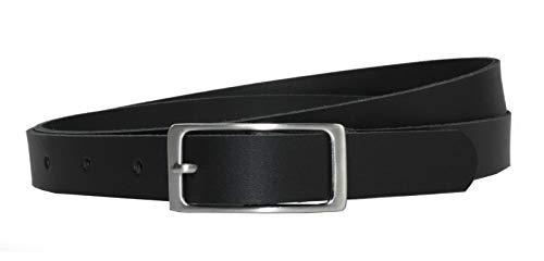 Vascavi Ledergürtel, 2 cm breit, Made in Germany, echt Leder Gürtel für Damen, als Hüftgürtel, kürzbar (85 cm Gesamtlänge 95 cm, Schwarz)
