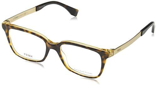 Fendi Brillengestelle FF 0077 DVO Rechteckig Brillengestelle 50, Braun