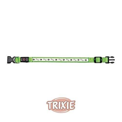 Trixie USB Flash Collar de Perro, pequeño/Mediano, Color Verde