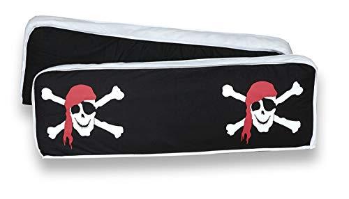 Rückenkissen-Set für Kinderzimmer mit Farbauswahl, Kissenfarbe:Pirat Schwarz