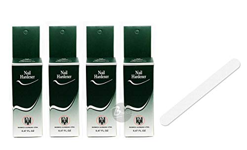 Quimica Alemana Nail Hardener 0.47oz (Pack de 4) W/libre archivo