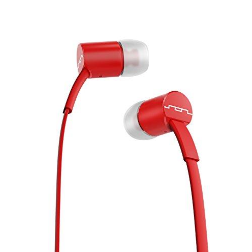 SOL Republic Jax In-Ear Kopfhörer, Geräuschisolierende, kabellose Ohrhörer mit Mikrofon + 1-Knopf-Steuerung, hochwertiger Klang mit kräftigem Bass, 4 Ohrstöpselgrößen für ideale Passform, red