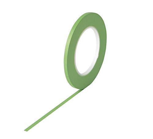 Fine Line Tape grün I 9 mm x 55 m I Abdeckband für Mehrfarben- und Designlackierung I Konturenband I Zierlinienband I Fineline