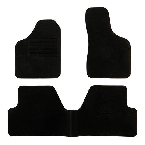 DBS 1763183 Tapis Auto - Sur Mesure - Tapis de sol pour Voiture - 3 Pièces - Antidérapant - Moquette noir 900g/m² - Finition Velours - Gamme Star