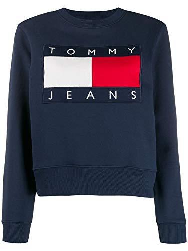 Luxury Fashion   Tommy Hilfiger Dames DW0DW07414CBK Donkerblauw Katoen Sweaters   Lente-zomer 20