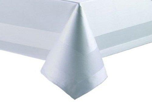 Damasst Nappe rectangulaire 100 % coton Blanc 130 x 220 cm