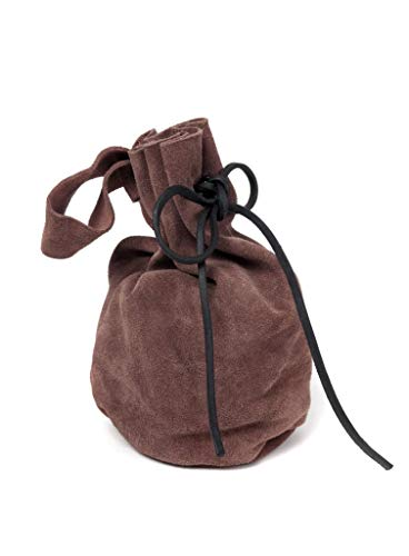 Gürtel-Geldbeutel aus Leder LARP - dunkelbraun