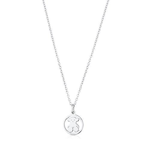 Collar TOUS Camille de plata de primera ley. Largo 45 cm