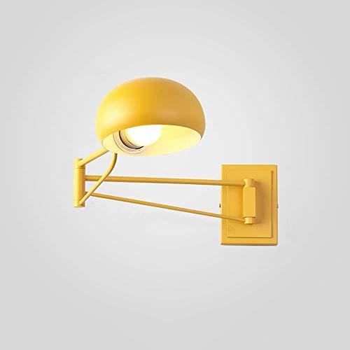 Klassieke Nordic Loft industriële stijl instelbare Jielde wandlamp vintage metaal smeedijzeren wandlamp lampen LED E27 voor woonkamer slaapkamer badkamer (kleur: groen)