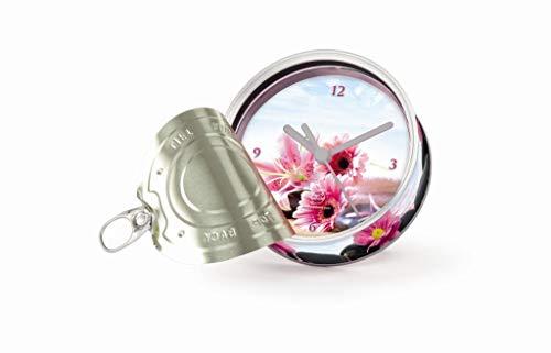 My Clock MyClock Horloge de table avec, My Clock personnalisable, Photo-cadeau, Cadre d'image, Souvenir, DIY Deco - Flower L