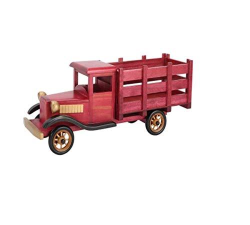 CESULIS Estante de madera maciza para camión, decoración de vino, botella, estante para vino, bandeja de vino, decoración de gabinete de vino, 37 x 14,5 x 10,8 cm