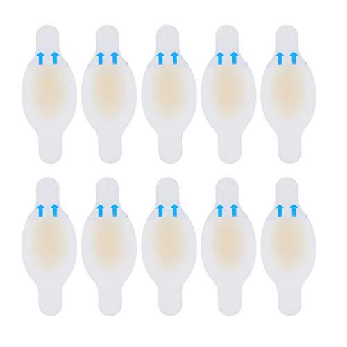 Supvox 10 Stücke Blasenpflaster Gel Fersenpolster Silikon Fersenschutz Blister Pads Hydrokolloid Aktivgel-Pflaster Pflaster Fußpflege Aufkleber für Blasen Schmerzlinderung