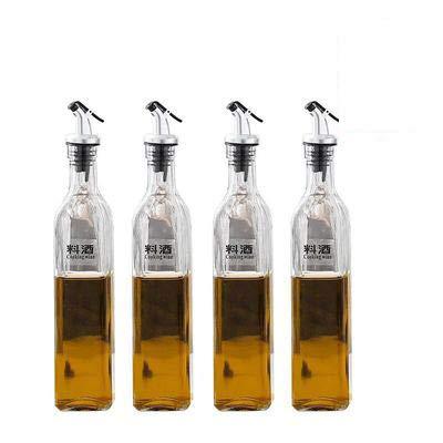 LLDKA lekvrij glas voor het huishouden, vetoplosser, grote sauzen, keuken, wijn, benzine, azijn, olie, 500 ml