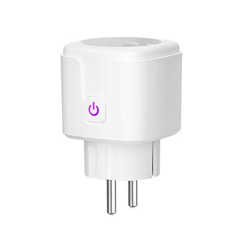 Gobesty Smart Steckdose, 16A Wlan Steckdose Alexa Steckdose Smart Stecker Smart Plug Wifi Steckdose mit Fernsteuerung, Sprachsteuerung, Kompatibel mit Alexa, Google Assistant für 2,4 GHz WiFi-Netzwerk