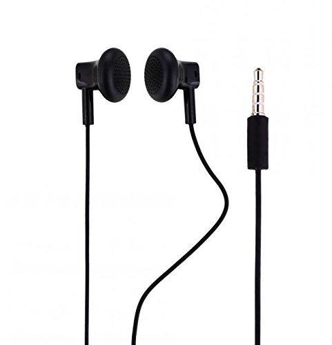 Original Nokia Headset in Schwarz für Microsoft Lumia 640 Dual Sim Kopfhörer Ohrhörer geformt Ohrstöpsel 3,5mm Stecker Stereo Sound NOKHB3 Bulk verpackt