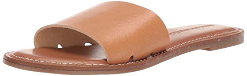 Amazon Essentials Women's Kristi Flat Sandal, Buff, 8 M US