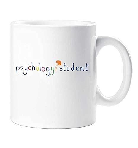 N\A Taza de Estudiante de psicología Taza de cerámica Divertida del Regalo de la Novedad de la Seta mágica