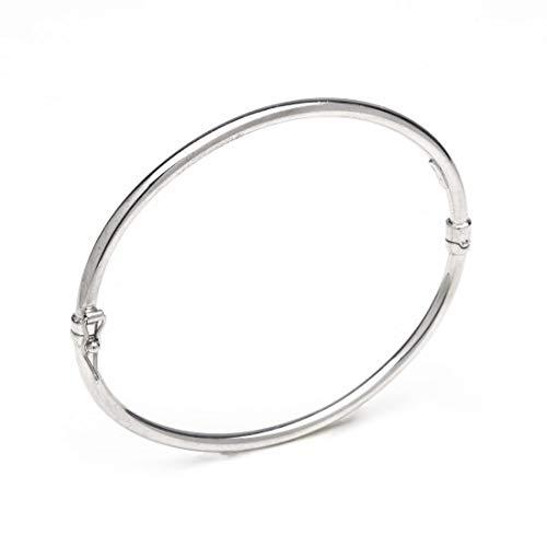 Remo Gammella - Pulsera para hombre y mujer, de plata 925, rígida, de plata, 57 mm de diámetro