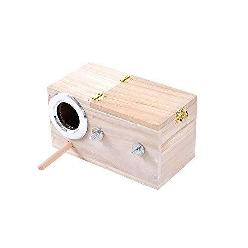 Hovico Parakeet Nesting Box, Pet Bird Wooden House Parakeet Nest Box Bird House Box Parrotlets Wood...