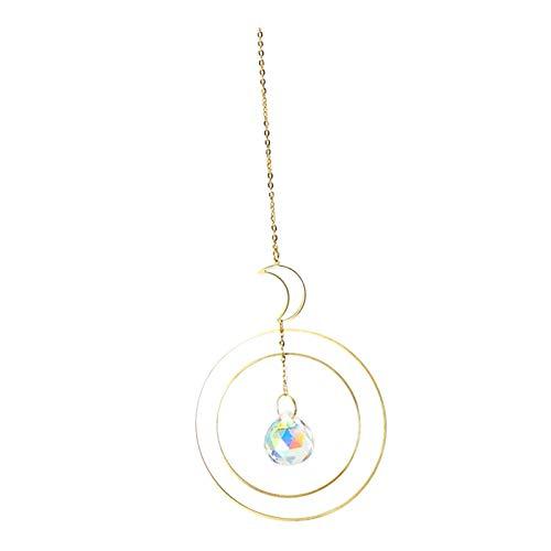 Gazechimp Suncatcher Crystal Moon Suncatcher Accesorios de Cristal Decoración de Jardín