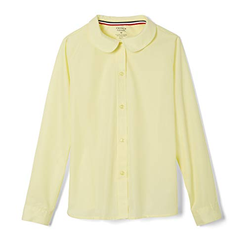 French Toast Little Girls' Long Sleeve Peter Pan Collar Blouse, Yellow, 6