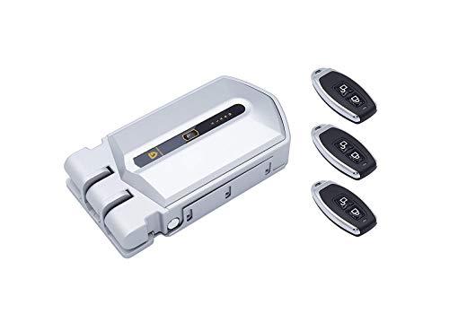 Golden Shield Alarm - Cerradura invisible con alarma 95 db y 3 mandos incopiables color plata