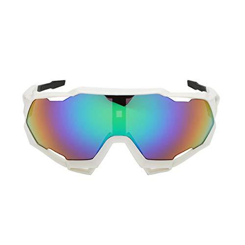Gafas de Ciclismo Unisex Gafas de Sol Polarizadas para Bicicleta con Protección UV 400 Gafas Ajustables Anti Viento para Deportes Bici Moto Gafas Deportivas para Hombres y Mujeres (H, Talla Única)