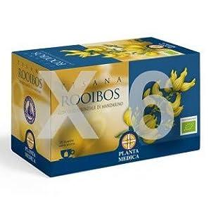 Aboca - Tisane Rooibos Bio 20 filtres [] efficace pour le bien-être quotidien naturel [Kit avec mousseur à lait Bambou estival]