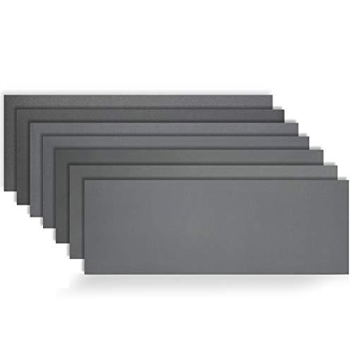 KITEOAGE Carta Abrasiva 14 Pezzi Carta Vetrata per Legno 400/600/800/1000/1200/1500/2000 Secco e Bagnato Lucidatura a Carrozzeria Auto Abrasivi Grana