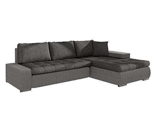 Mirjan24 Elegante Sofa Orkan Mini mit Schlaffunktion und Bettfunktion, Eckcouch Ecksofa mit Bettkasten, Couch L-Sofa Große Farbauswahl, Beste Qualität (Ottomane Universal, Lux 05 + Lux 06)