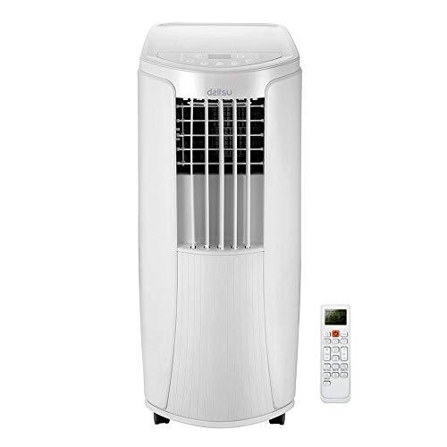Daitsu 3NDA0088 Aire Acondicionado Portátil con Bomba de Calor APD-12HK, potencia 3027 kcal/h, Nuevo Refrigerante R32, Área de Aplicación: 22 m², Clase Energética A-A+