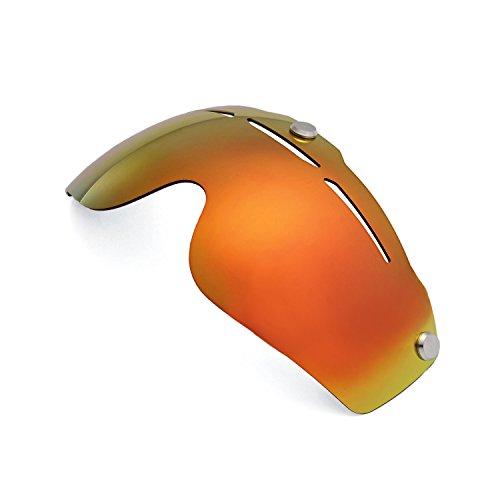 Walleva Ersatzgläser für Giro Air Attack Helmet - Mehrfache Optionen (Feuerrot Mirror Coated - Polarisiert)